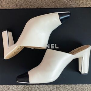 Chanel slip on heels